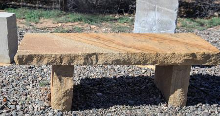 New Mexico Travertine :: Stone Bench